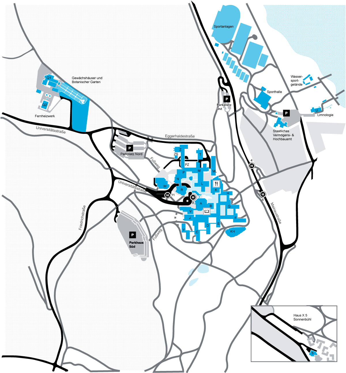 Travel And Campus Map About The University Of Konstanz - Find us map