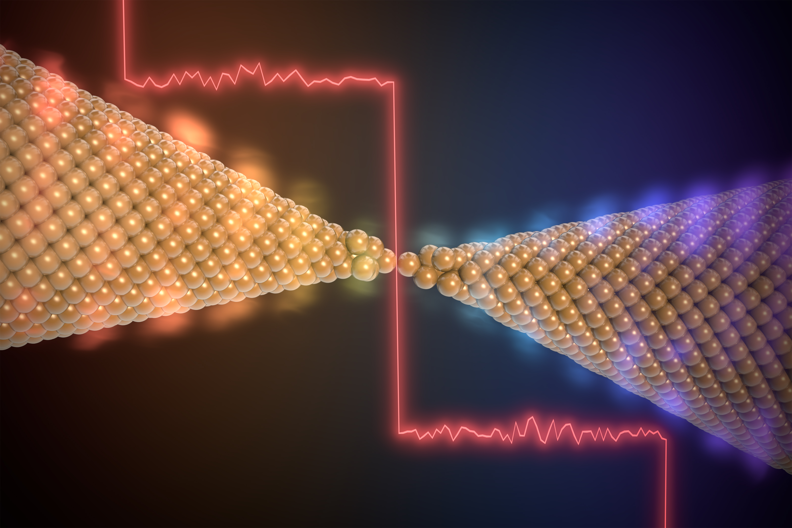 Breakthrough with a chain of gold atoms | News in detail | News